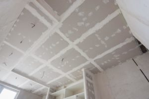this image shows the acousting ceiling removal