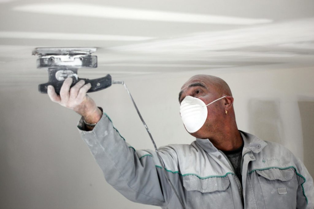 this picture shows los angeles acoustic ceiling removal